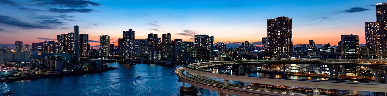 Rainbow Bridge, Tokyo Wide Shot